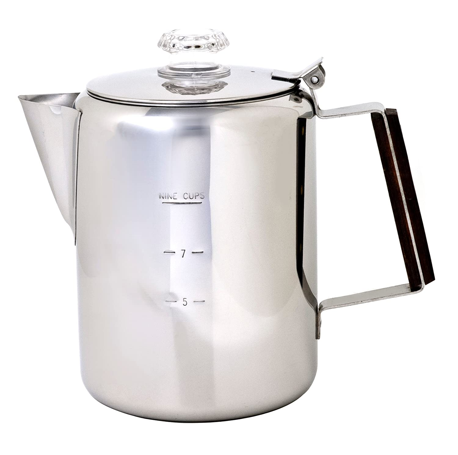 Chinook 41120 Timberline Coffee Percolator, Stainless Steel, 9 Cup