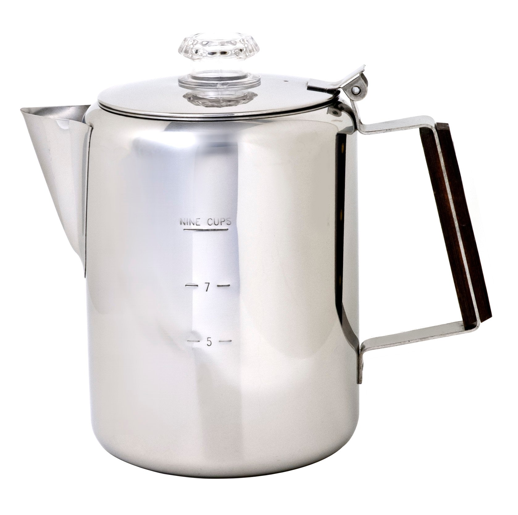Chinook Timberline 9 Cup Stainless Steel Coffee Percolator by Chinook