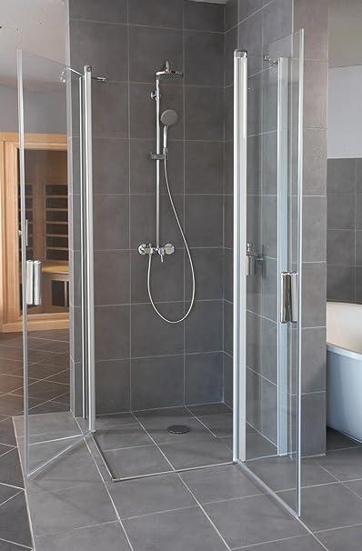 100 X 190 Puerta oscilante con fijo Segmento Hüppe Diseño Elegance (Cristal, transparente: Amazon.es: Bricolaje y herramientas