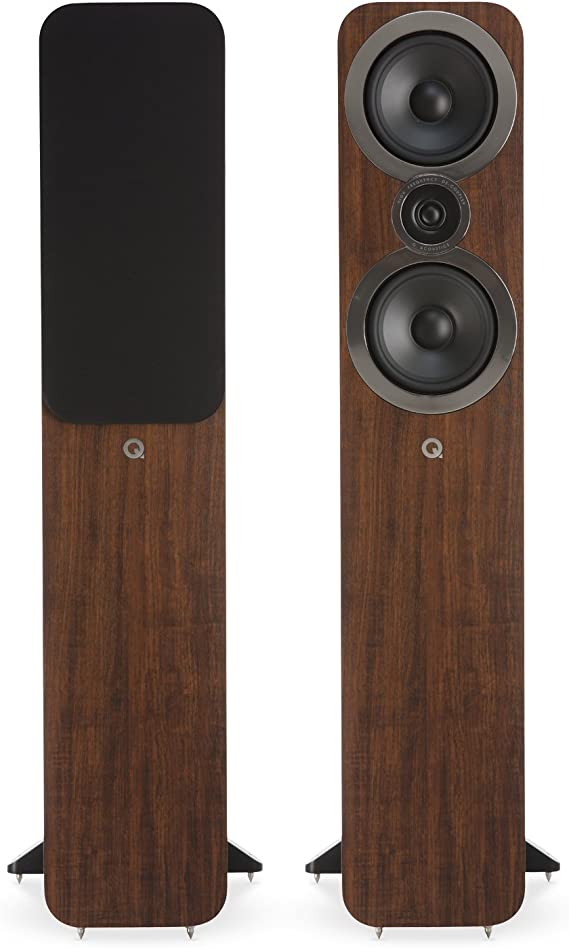 Q Acoustics 3050i Floorstanding Speaker Pair (English Walnut) 2018 Model