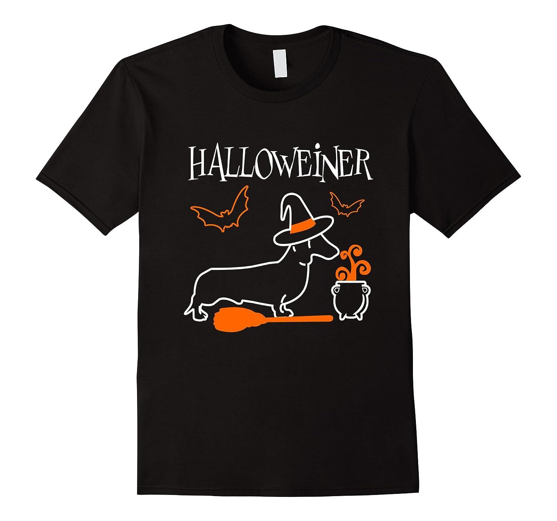 Dachshund Halloweiner T-Shirt Funny Halloween For Dog Lovers-RT
