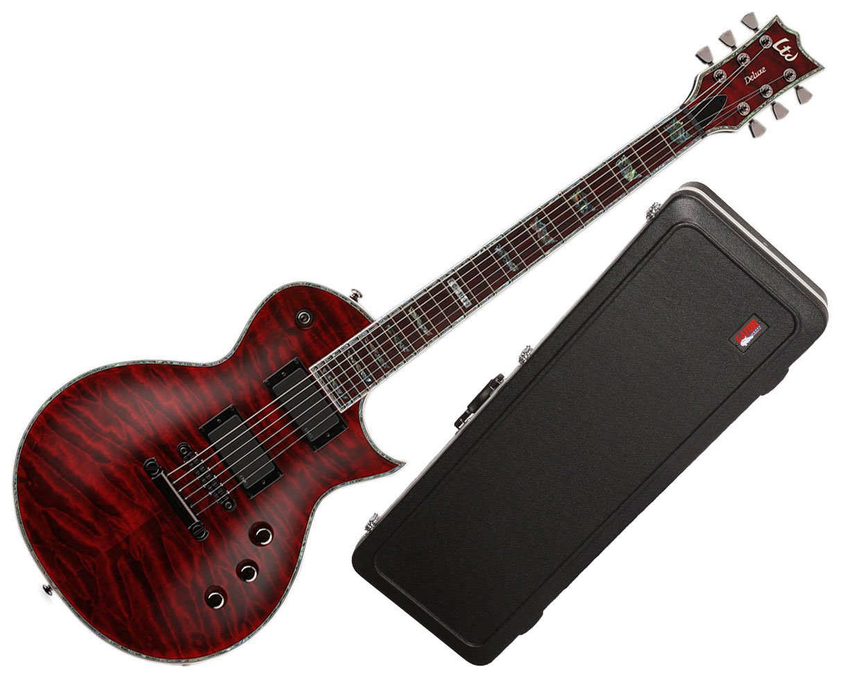 Amazon.com: ESP LTD EC-1000 Deluxe Series Electric Guitar with Gator Deluxe  ABS Case: Musical Instruments