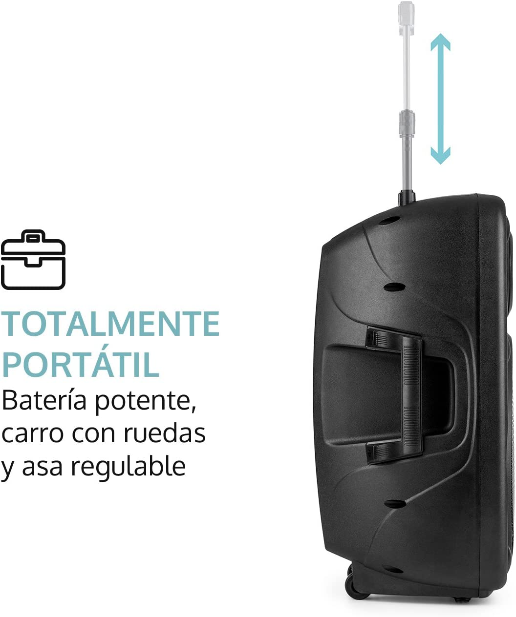 auna Streetstar 15 Equipo de PA portátil - Sistema Sonido móvil ...