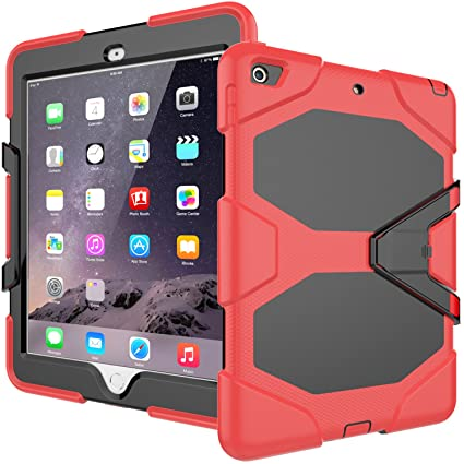 online retailer e9bbd efc26 iPad 6th Generation Case - Tough Rugged Heavy Duty Shockproof Bumper  Protective Armor Cover With Kickstand for Apple iPad 9.7 inch 2018,  Compatible ...