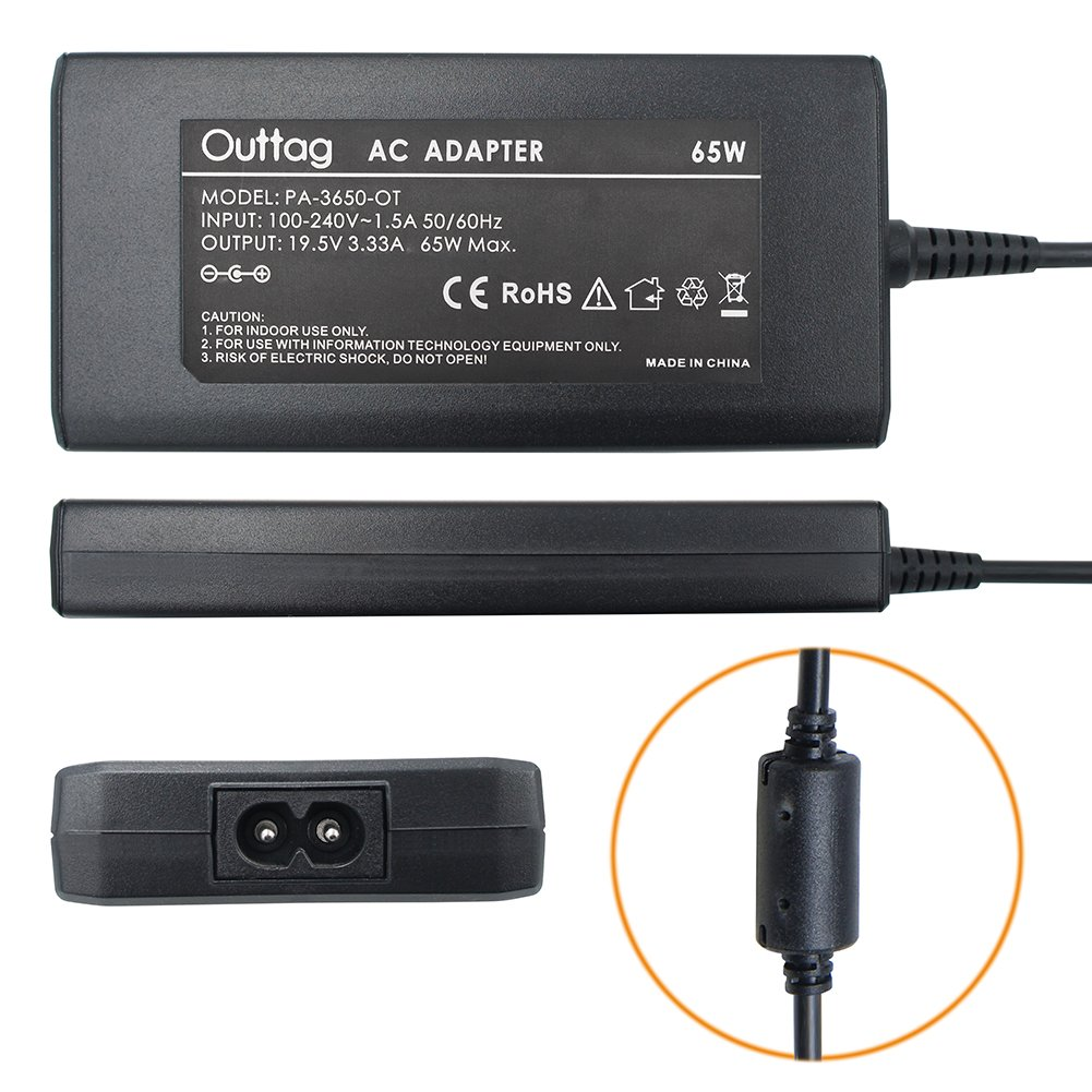 Outtag Ultrathin Laptop AC Adapter Charger Replacement 65W 45W for Hp Spectre X360;Stream 11 13 14; Elitebook Folio 1040 G1 G2 G3; Split 13 Pavilion X360 M3; Touchsmart 15 13 M6 250 255 355 455 G3 G4