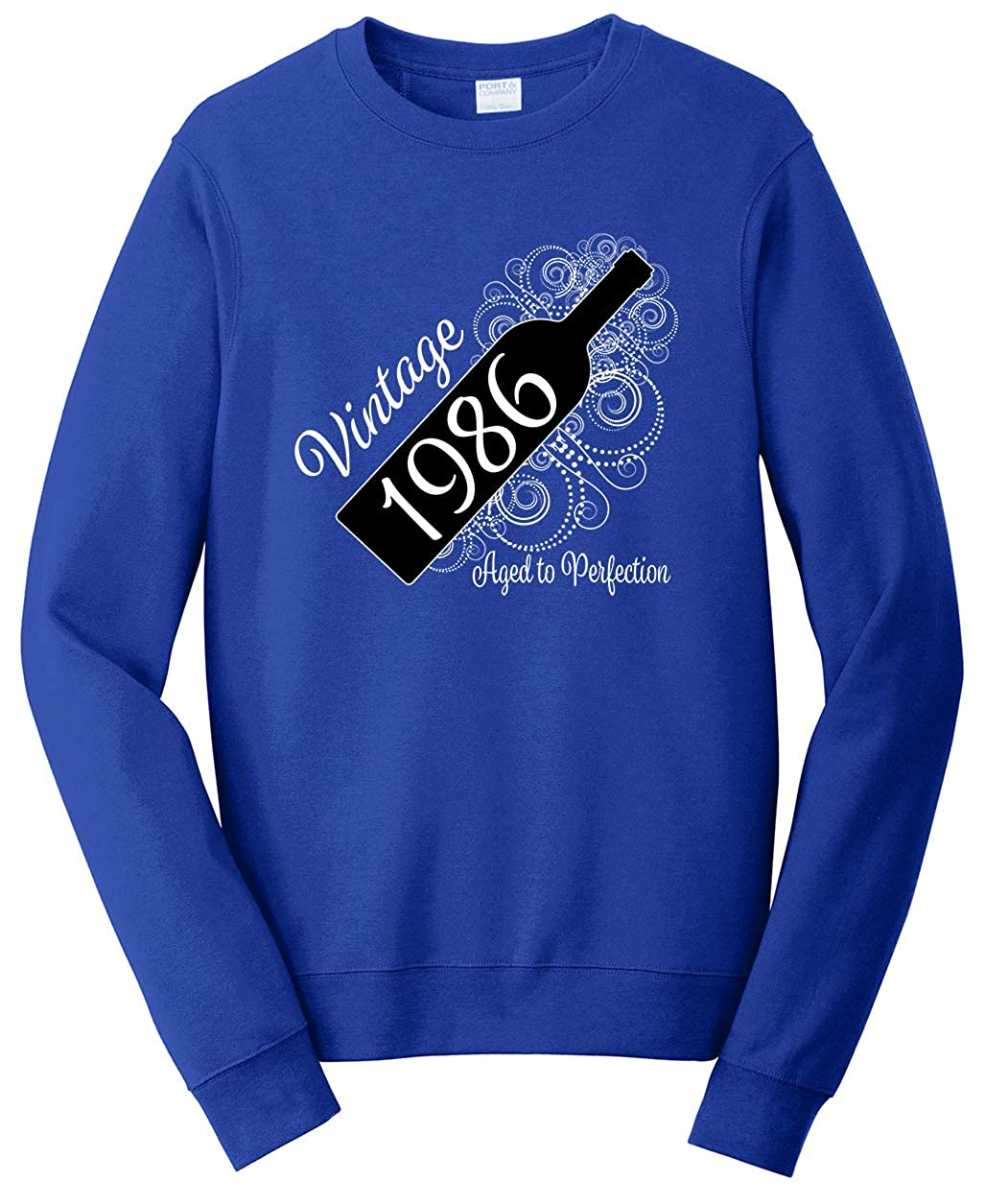Tenacitee Unisex Born in 1986 Aged Like a Fine Wine Sweatshirt