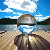 Chunkai 80mm(3 inch)Clear Crystal Ball with Free Crystal Stand for Divination Ball Photography Decoration
