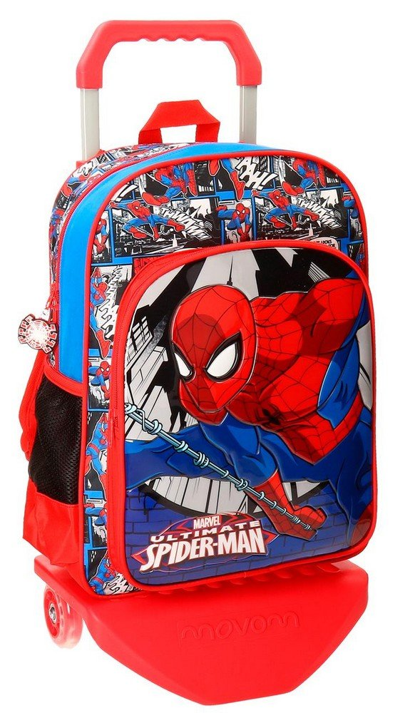 Spiderman-Sac à dos avec chariot Spiderman Comic