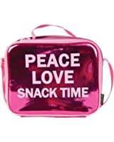 """Fashion Angels Style.Lab """"Peace Love Snack Time"""" Metallic Insulated Lunch Tote"""