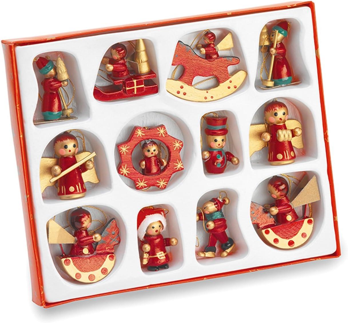 Juego de adornos para árbol de navidad (madera, pintados a mano ...