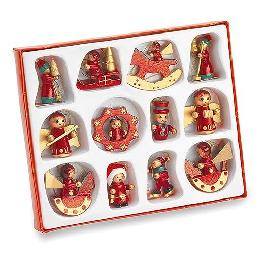 7 opinioni per Geschenkartikel-shopping- Set da 12 decorazioni per albero di Natale, in legno,