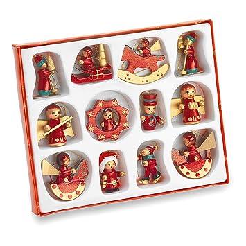 juego de adornos para rbol de navidad madera pintados a mano
