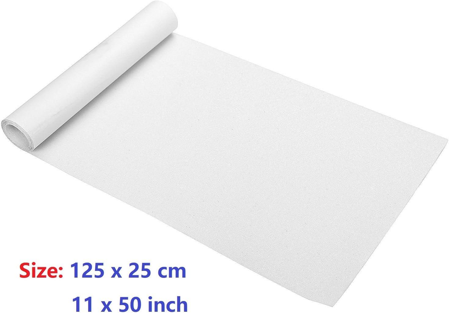 """ZUEXT 11"""" x 50"""" Clear Skateboard Grip Tape, Waterproof Scooter Grip Tape, Longboard Grip Tape / US"""