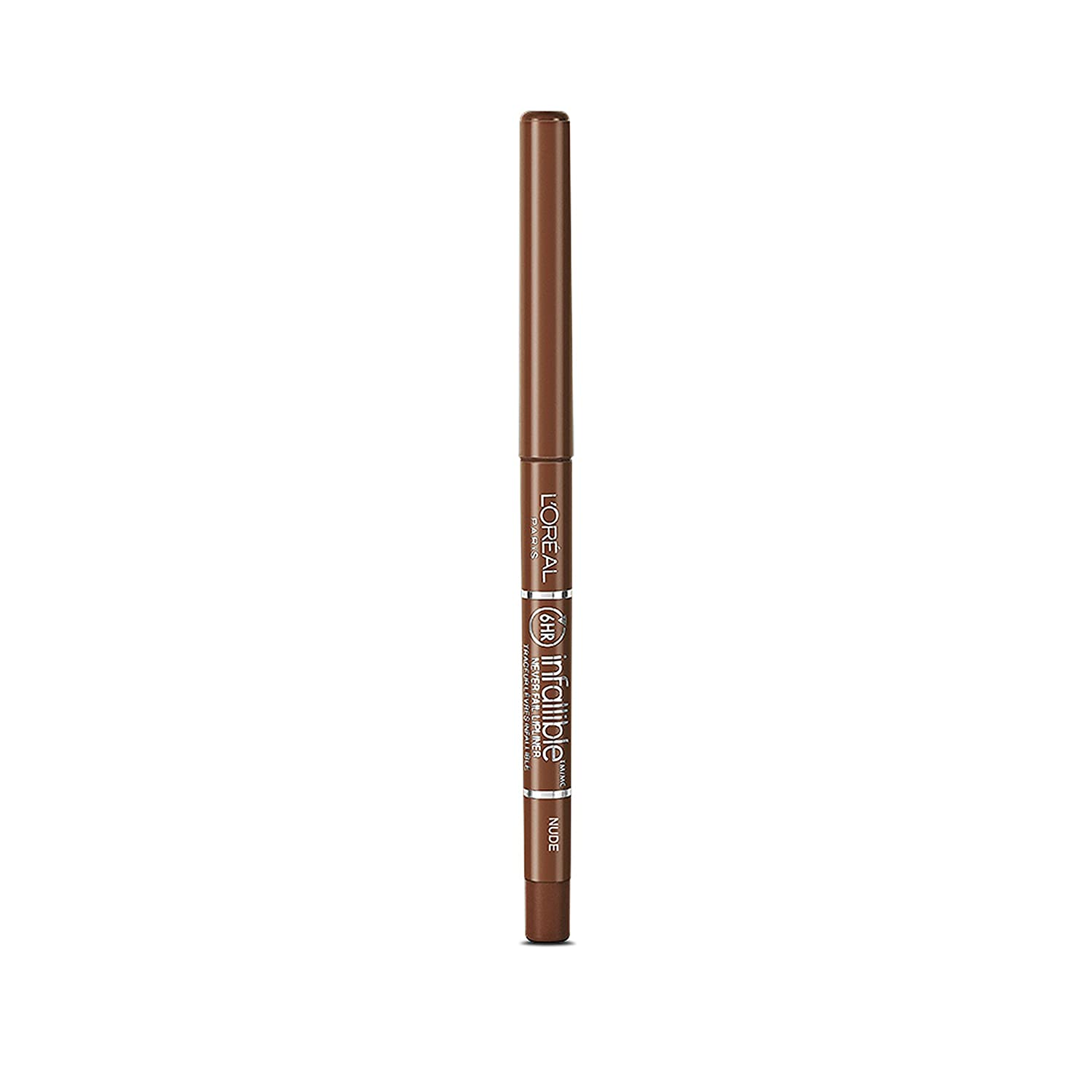 L'Oréal Paris Colour Riche Never Fail Lip Liner, Nude, 0.009 oz.