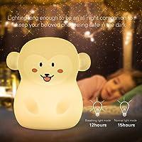 Tekemai Baby Nacht Licht, Nachtlampje voor Kinderen Veilig Zacht Siliconen Nachtlampje 9 Kleuren met Afstandsbediening…