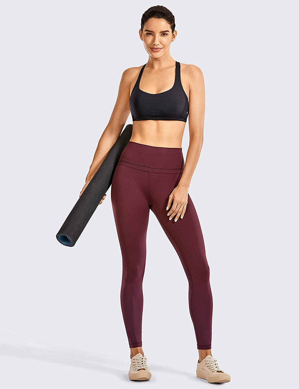 CRZ YOGA Damen Doppelter Kreuz-Tr/äger ohne B/ügel abnehmbare Bra-Einlage Yoga Sport BH