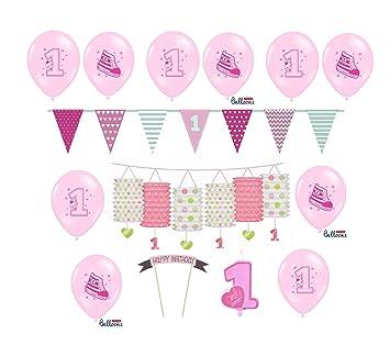 Feste Feiern Zum Ersten 1 Geburtstag Madchen I 14 Teile Deko Zur