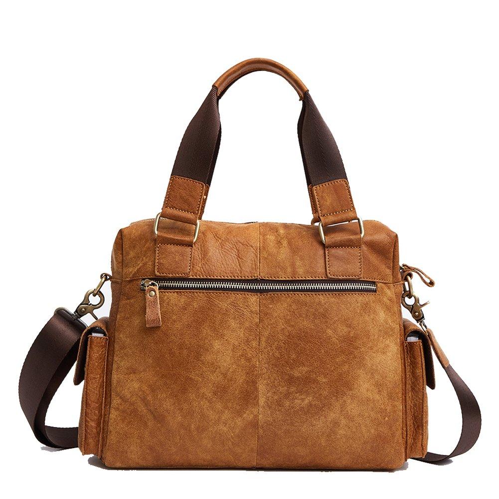 TOREEP Mens Leather Crossbody Shoulder Bag Messenger Bag