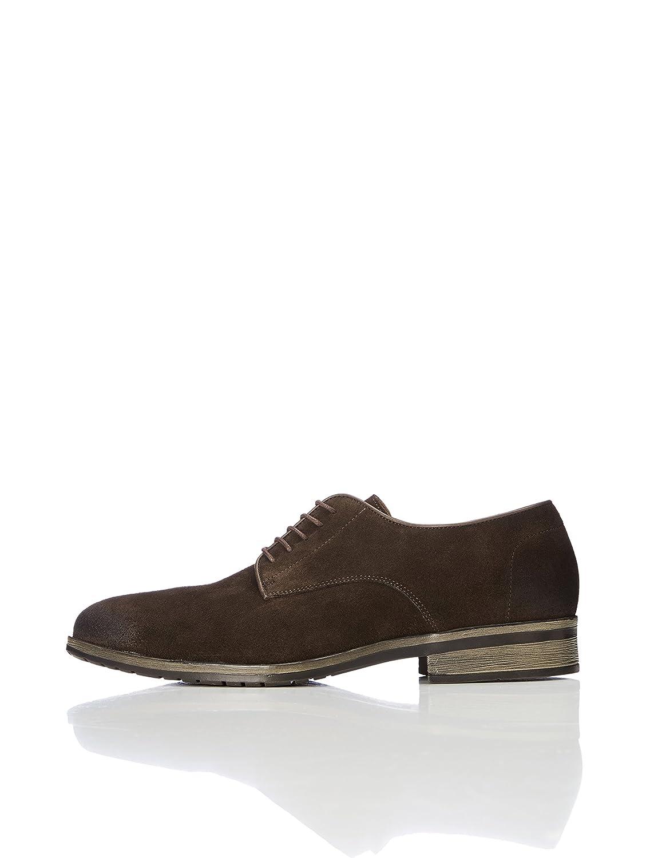 FIND Zapatos Estilo Derby de Serraje para Hombre