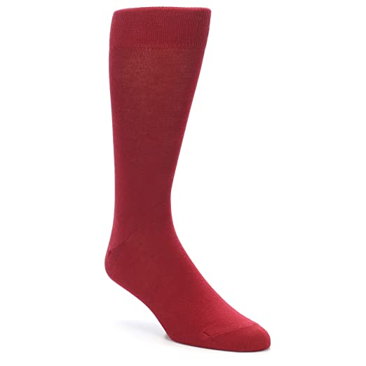 f6877f4516f2 Boldsocks Solid Color Men's Dress Socks (8-12, Apple Red) at Amazon Men's  Clothing store:
