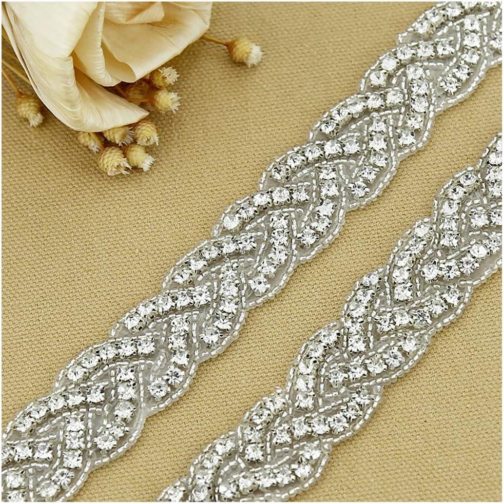 Pearl Rhinestone Chain Trims Wedding Decoration Craft Beaded Trim 1yard 2cm Red