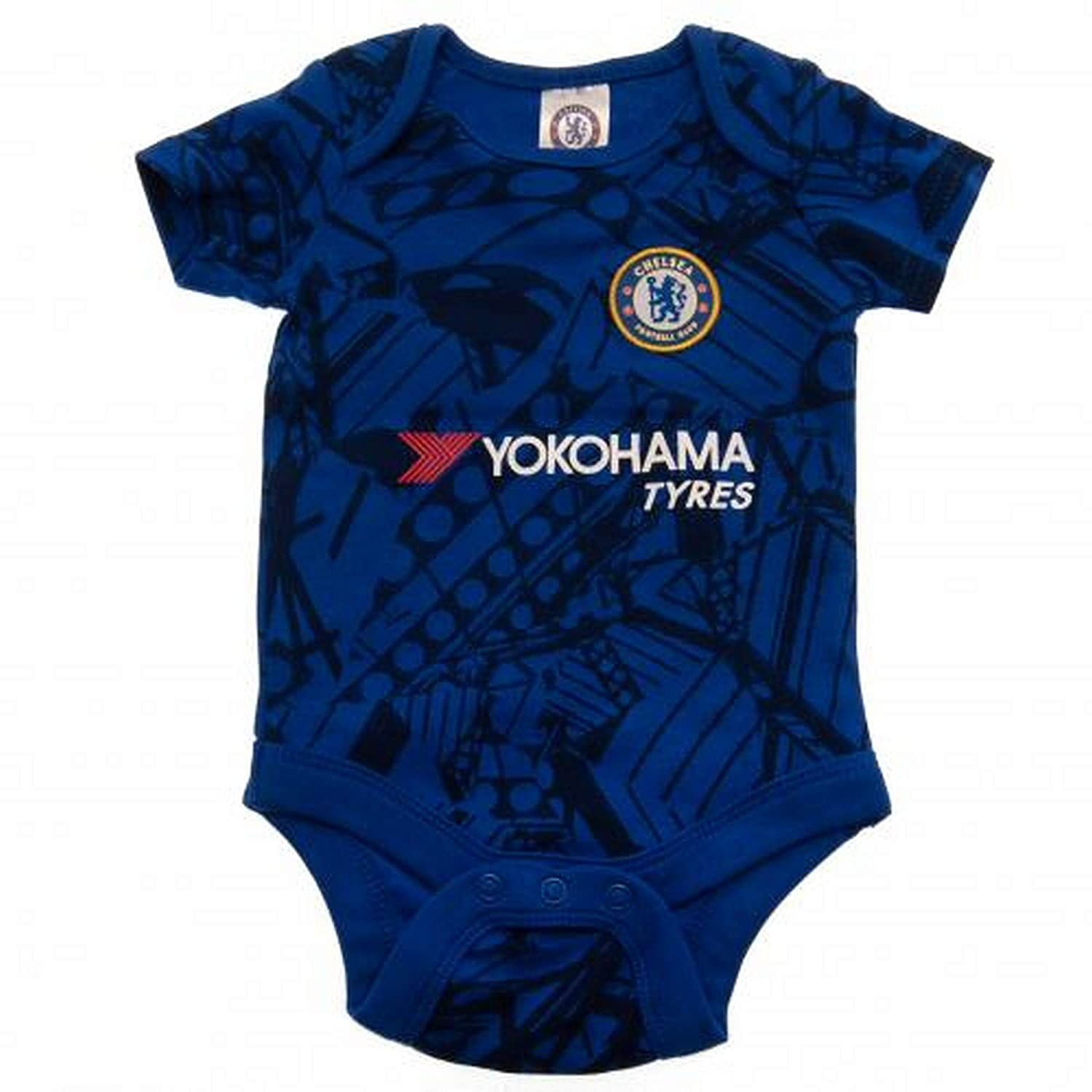 0-3 Months Blue//White Chelsea Baby Kit 2 Pack Bodysuits 2019//20