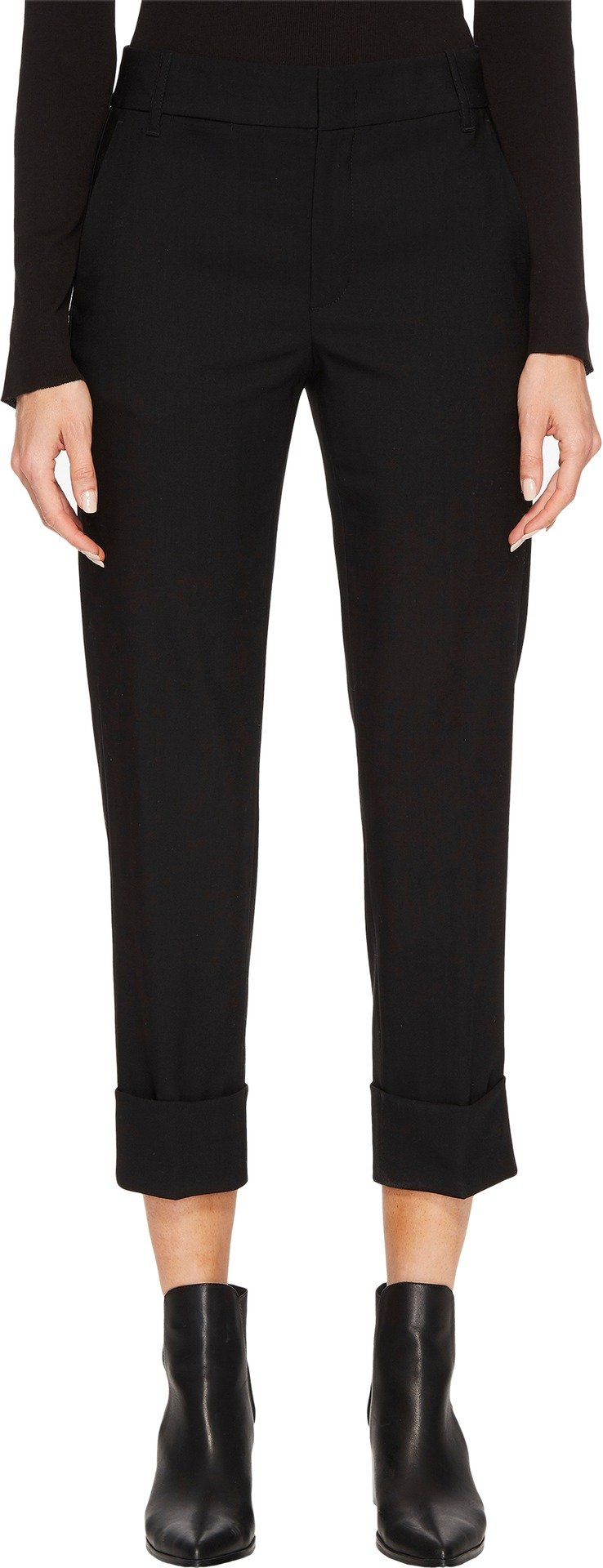 Vince Women's Cuffed Coin Pocket Trousers Black 10