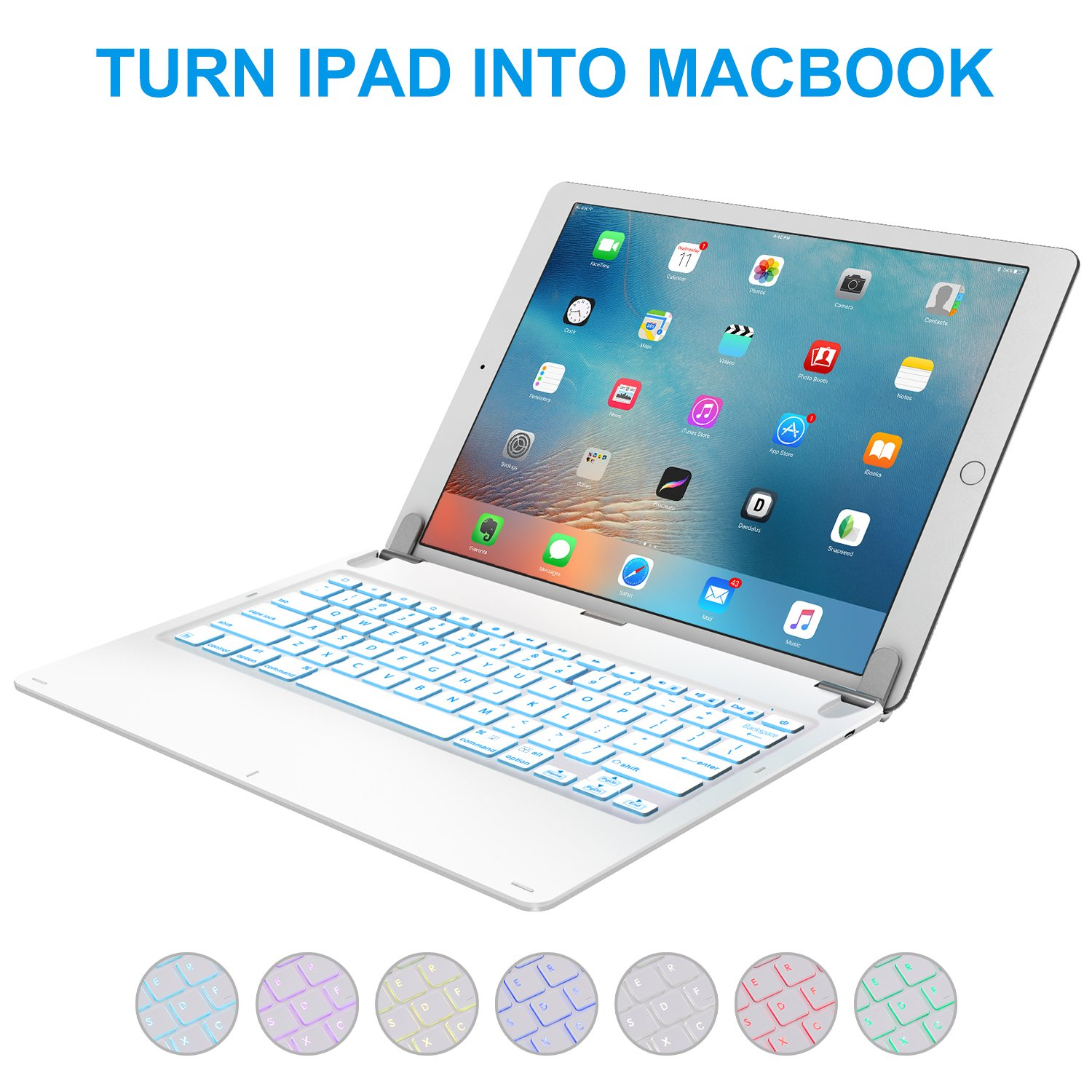 Amazon Ipad Pro 129 Inch Keyboard With 7 Colors Backlight