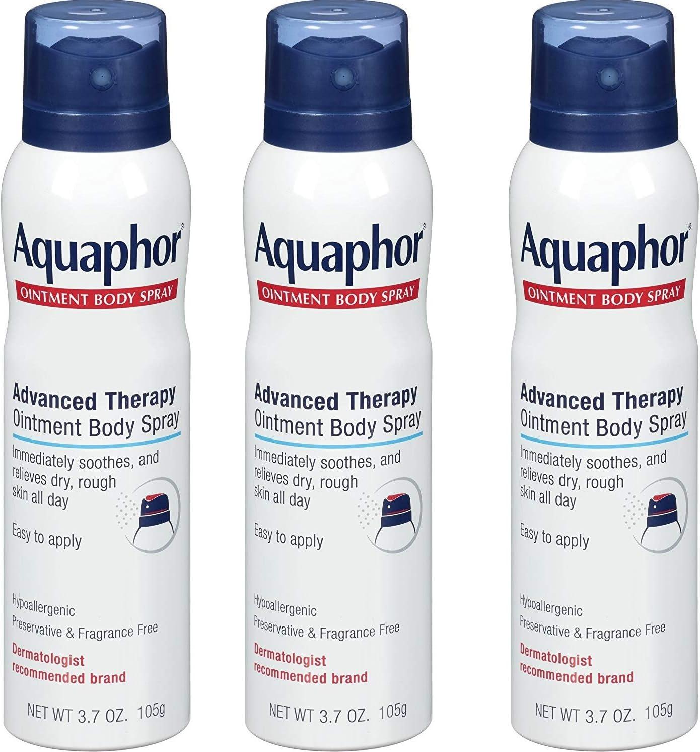 Aquaphor Ointment Body Spray - Moisturizes and Heals Dry, Rough Skin - 3.7 oz. Spray Can, iBCCvR 3 Pack