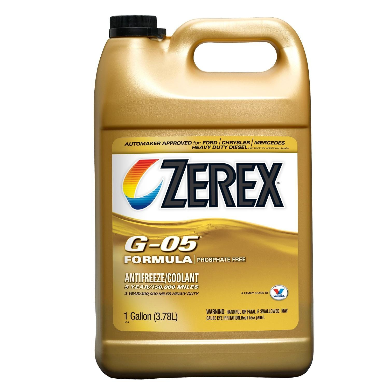 Zerex G-05 Antifreeze/Coolant, Concentrated - 1gal (4) by Zerex