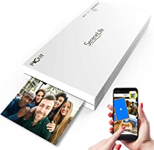 SereneLife Portable Instant Mobile Photo Printer - Wireless Color Picture Printing from Apple iPhone, iPad or Android Smartphone Camera - Mini Compact Pocket Size Easy for Travel-PICKIT20.5 (White)