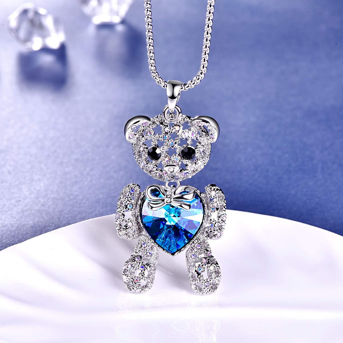 69ca0b76d Amazon.com: BONLAVIE Love Heart Pendant Necklace Sweater Long Chain 33