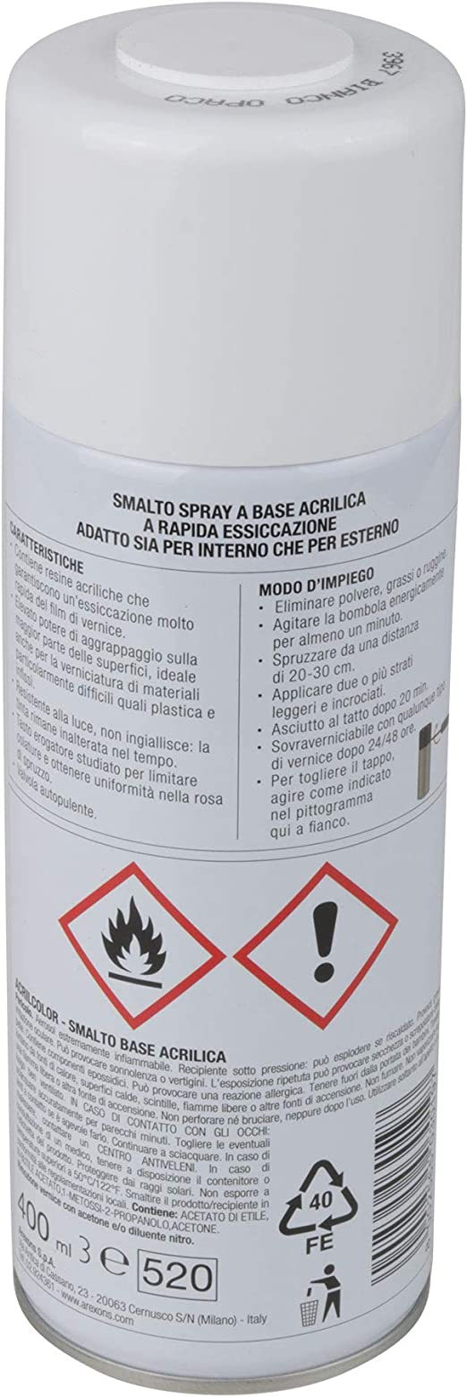 Arexons Rxs112 3960 Acrilcolor Bianco Opaco 400 Ml Küche Haushalt
