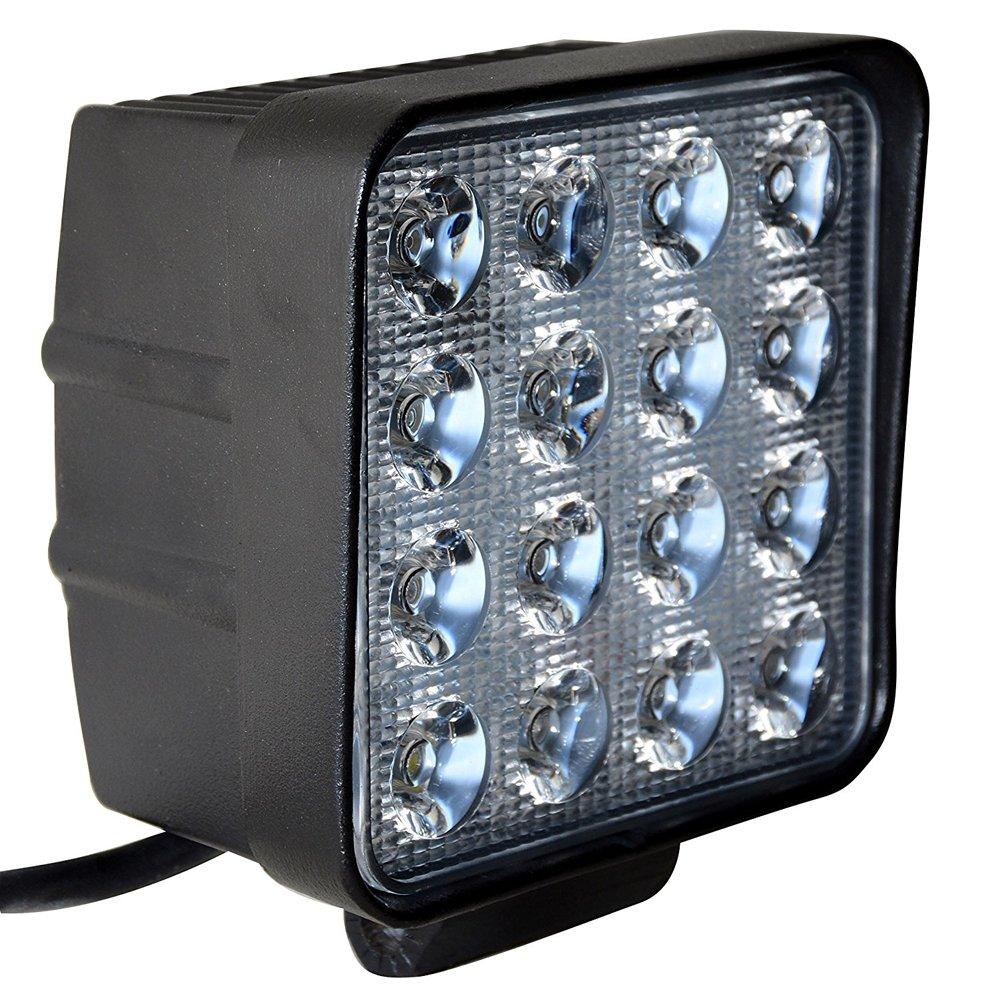 Leetop 10PCs 48W Luz Moto Diurna Lampara Coche Foco LED Faro de Trabajo Luz LED Luz interior Coche Luz Coche Luces Antiniebla Blanca L/ámpara