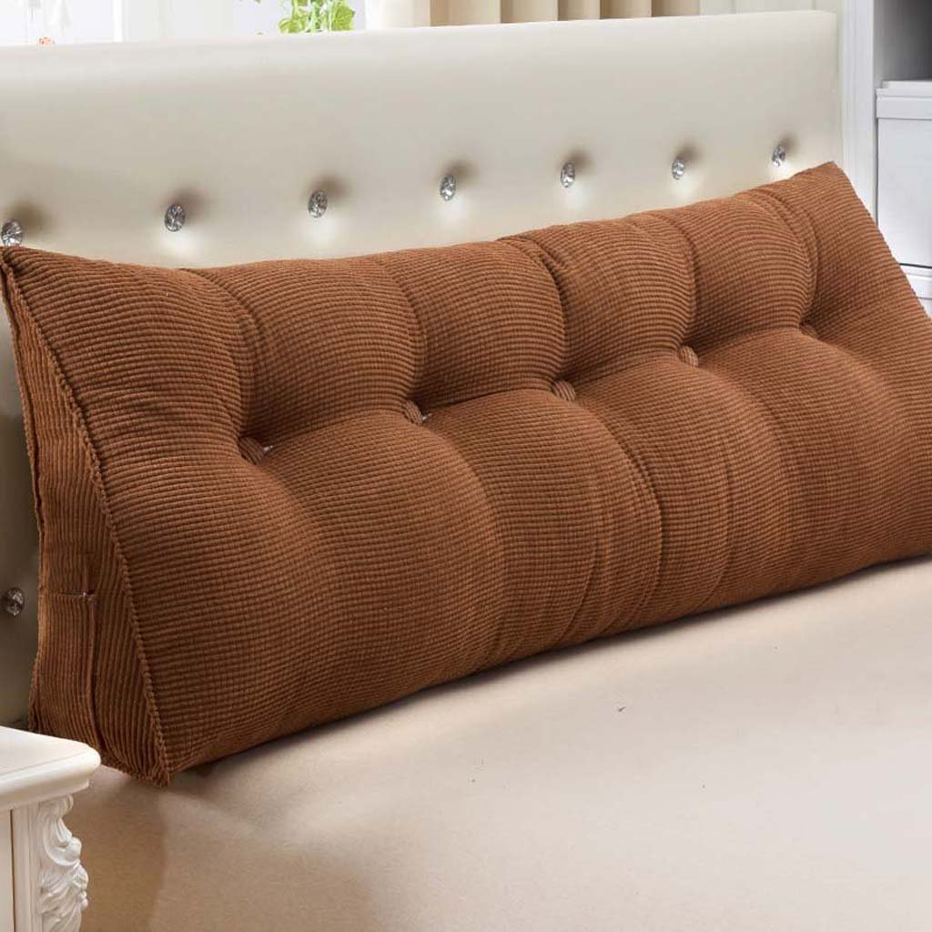 TIANTA-Cushion Double bedside pillow cushions pillow sofa large back soft bag bed lumbar support ( Color : J , Size : 180cm )