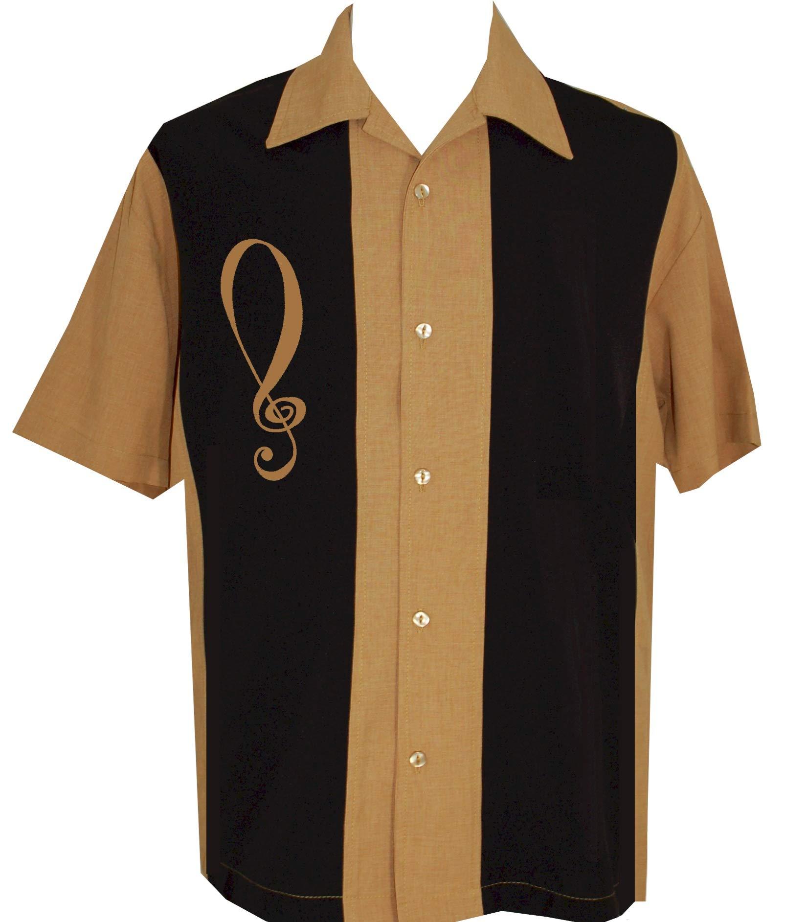 BeRetro Mens Camp Short-Sleeve Bowling Shirt Cozumel