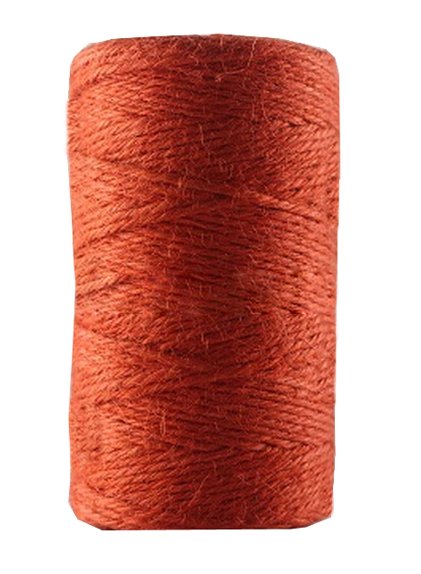 Huachnet Orange Jute Twine Best Arts Crafts Twine Industrial Packing Materials Heavy Duty Durable Natural Twine 4 Strands for Gardening Applications-2mm(W)*100 Meters(L) by Huachnet