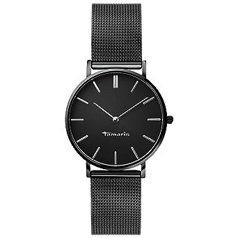 Damenuhren schwarz silber  Tamaris Damenuhr Daniela schwarz/silber B01573390: Amazon.de: Uhren