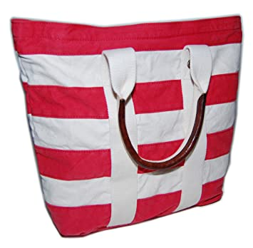 ae35731f58 Amazon.com | Ralph Lauren Rugby Mens Womens Vintage Nautical Canvas  Carryall Tote Bag Red | Travel Totes