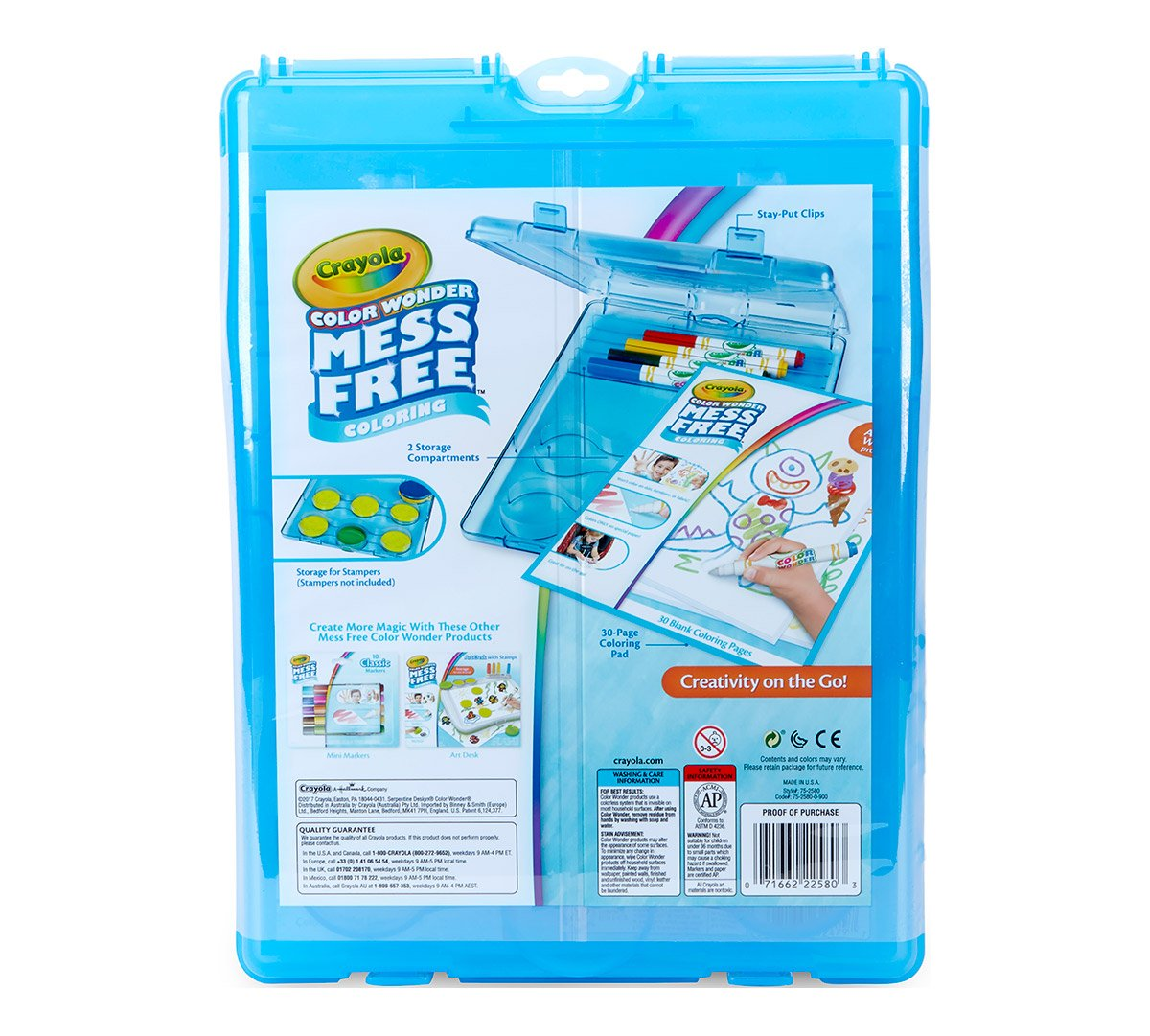 Amazon.com: Crayola Color Wonder Mess-Free Coloring, Stow & Go ...