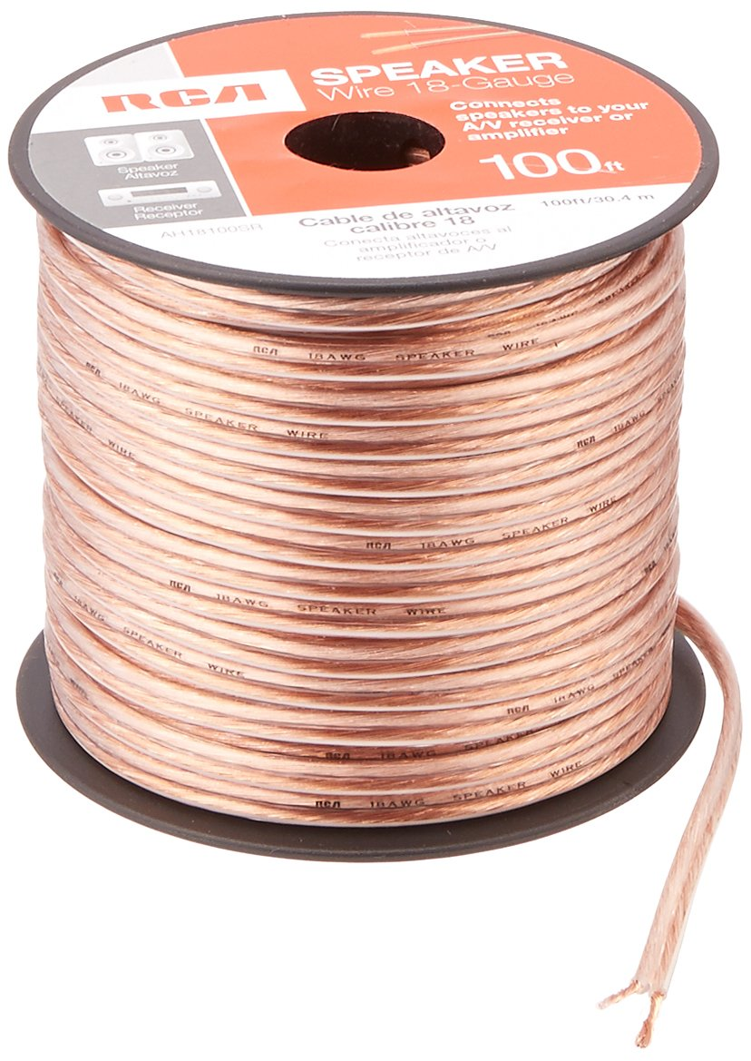 Rca Ah16100sr 100 Ft 16 Gauge Speaker Wire Home Audio House Wiring Theater