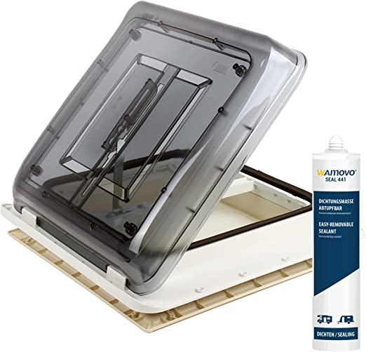 Fiamma Dachfenster Vent 40x40 Cm Klar Dekalin Dichmittel Schrauben Für Wohnwagen Oder Wohnmobil Auto