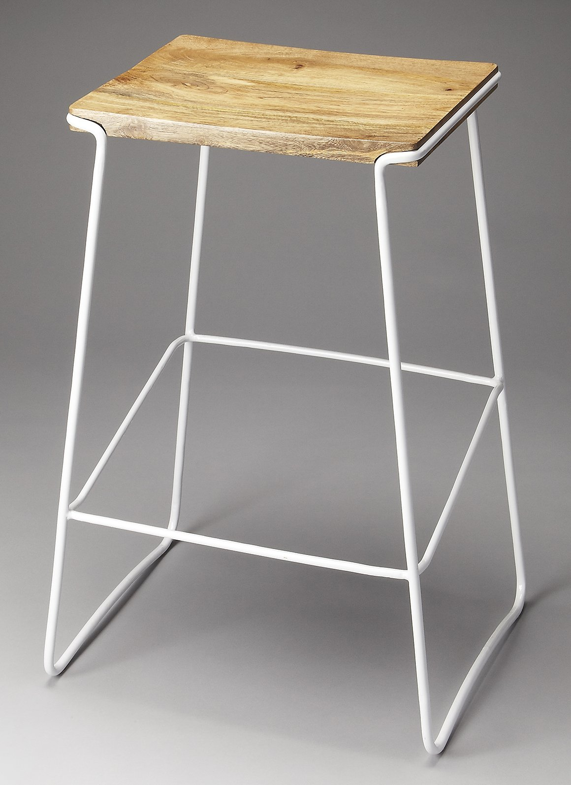 Parrish Bar Stool in White Finish