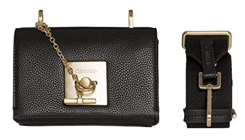 d7f5e91c91c Image Unavailable. Image not available for. Colour: Calvin Klein CK Lock  Small Flap Crossbody Black