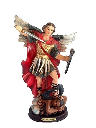 12 Inch Archangel Michael Miguel Statue Figurine Figure Religious San Saint Angel