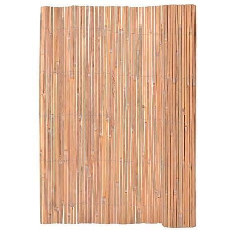 vidaXL Clôture en Bambou Bordure Grillage Barrière Portail de Jardin Balcon