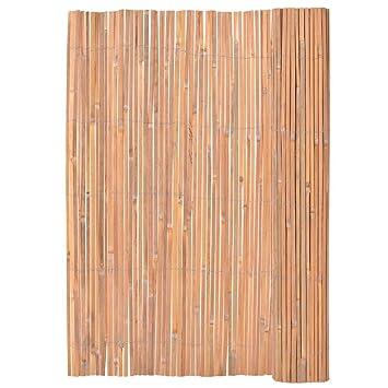 vidaXL Clôture en Bambou 200x400 cm Bordure de Jardin Barrière ...