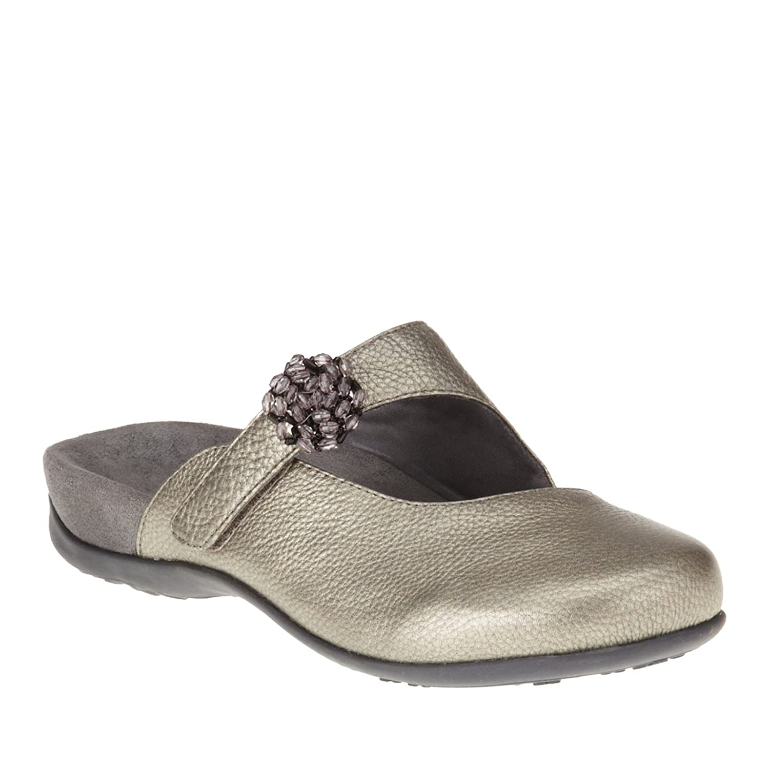 Vionic with Orthaheel Technology Womens Joan Mary Jane Mule B00LQHPAZQ 9 B(M) US|Pewter Metallic