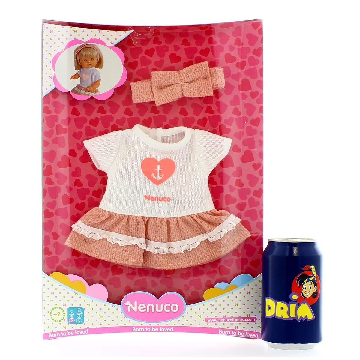 Amazon.es: FEBER Nenuco Ropita Casual Vestido Rosa: Juguetes y juegos