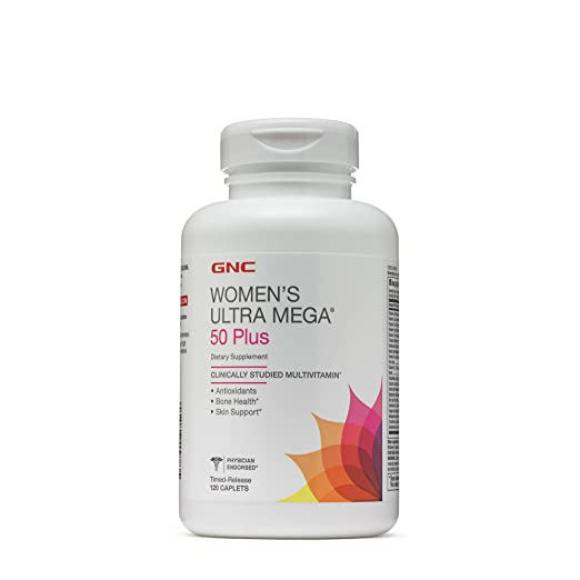 GNC Women's Ultra Mega 50 Plus Supplement, 120 Count